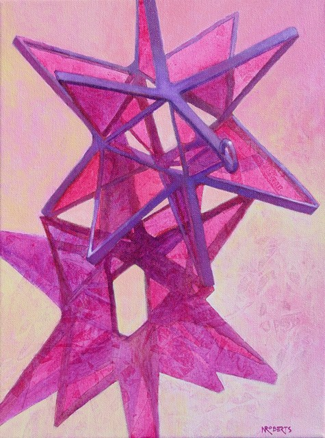 """Magenta Star"" original fine art by Nancy Roberts"