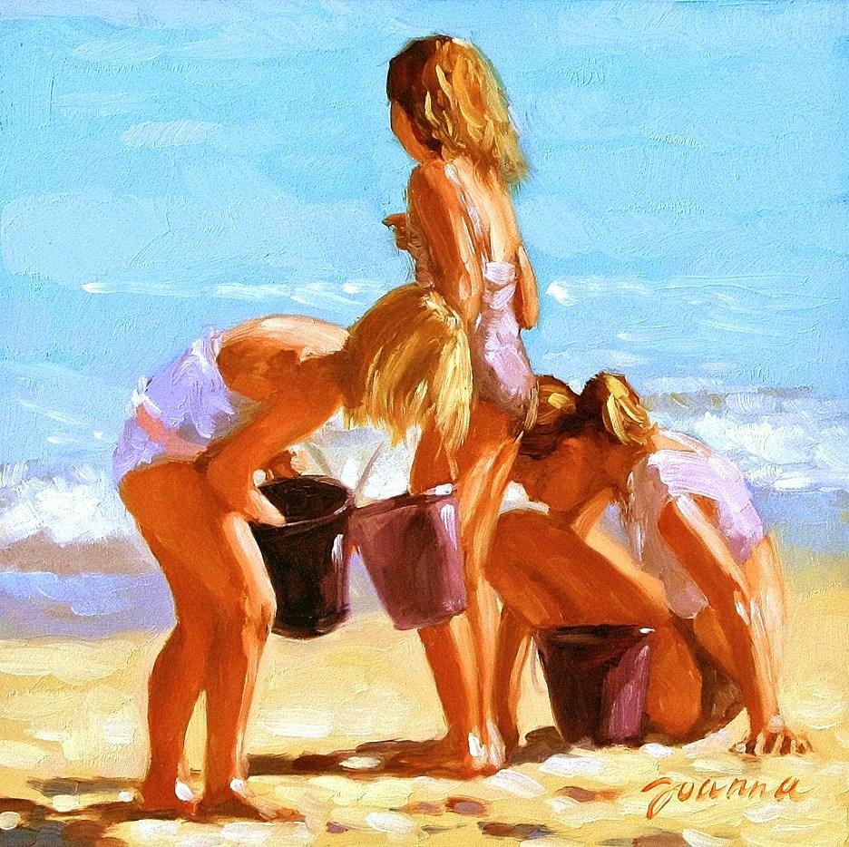 """""""Purple Buckets"""" original fine art by Joanna Bingham"""