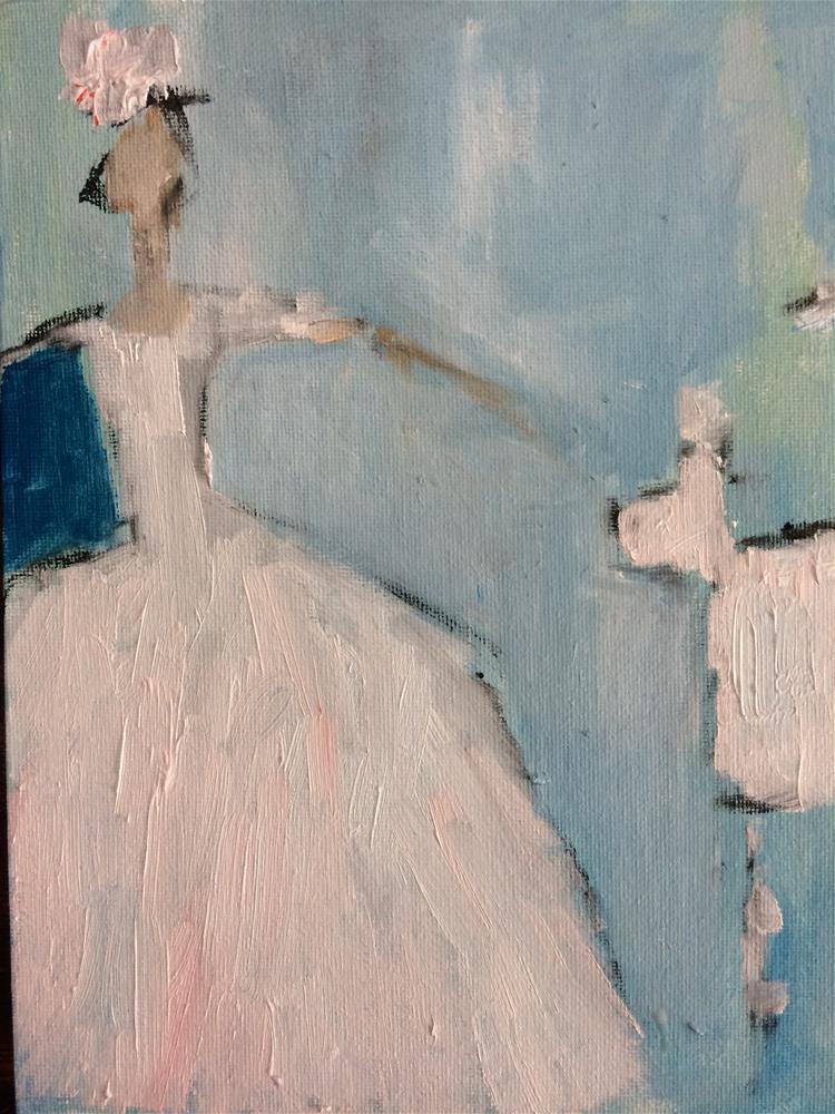 """White pet with matching bride"" original fine art by pamela kish"