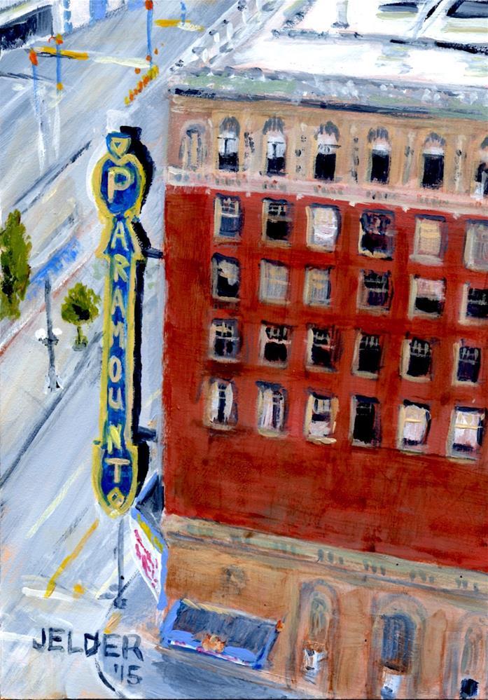 """""""Paramount Theater"""" original fine art by Judith Elder"""