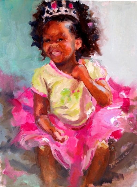 """Hannah"" original fine art by Marcia Hodges"