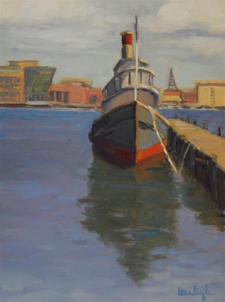 """In Baltimore Harbor"" original fine art by Lisa Kyle"