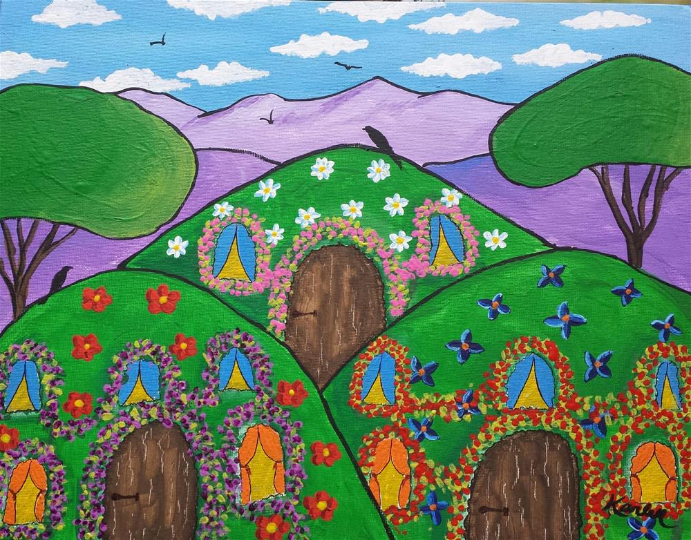 """Earthly Homes"" original fine art by Karleen Kareem"