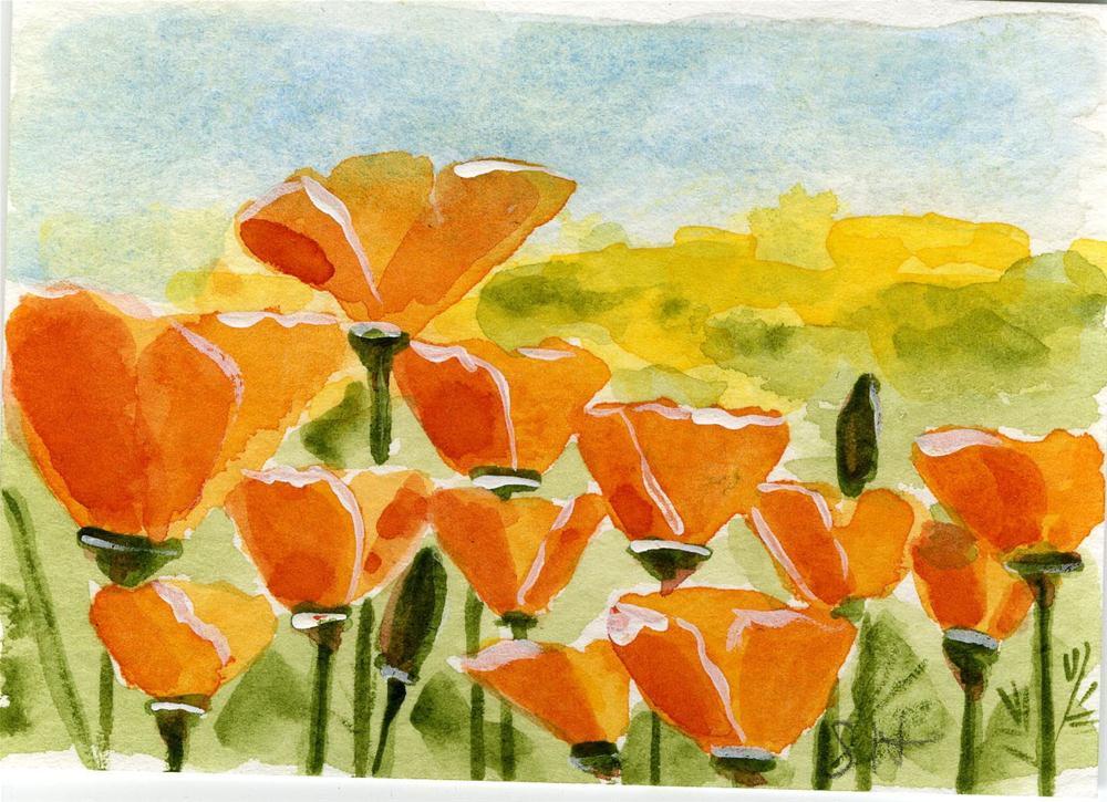 """Poppies"" original fine art by Sheryl Heatherly Hawkins"