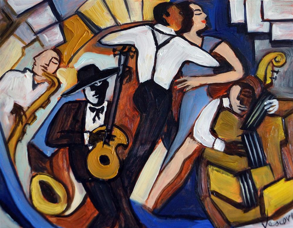 """Street Jazz"" original fine art by Valerie Vescovi"