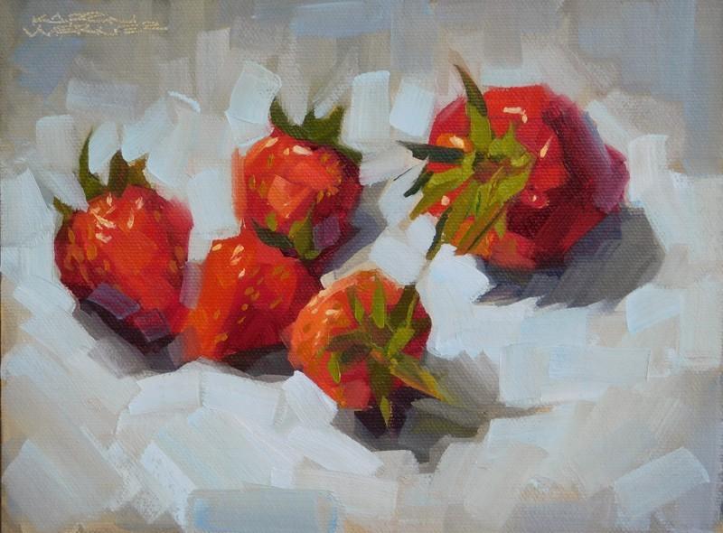 """""""One Bossy Berry"""" original fine art by Karen Werner"""