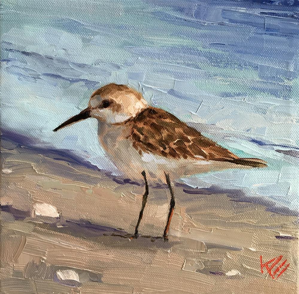 """""""Piper on the Shore"""" original fine art by Krista Eaton"""