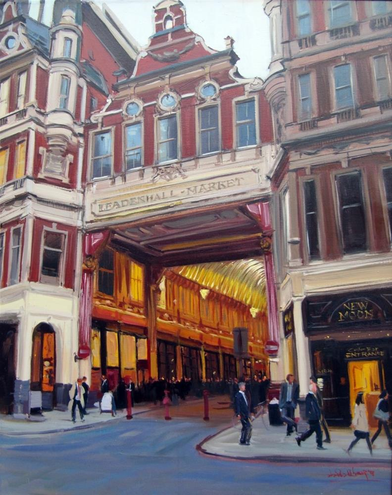 """Evening Light, Leadenhallhall Market"" original fine art by Adebanji Alade"