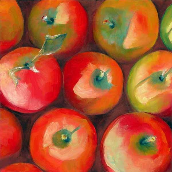 """An Apple a Day"" original fine art by Brenda Ferguson"