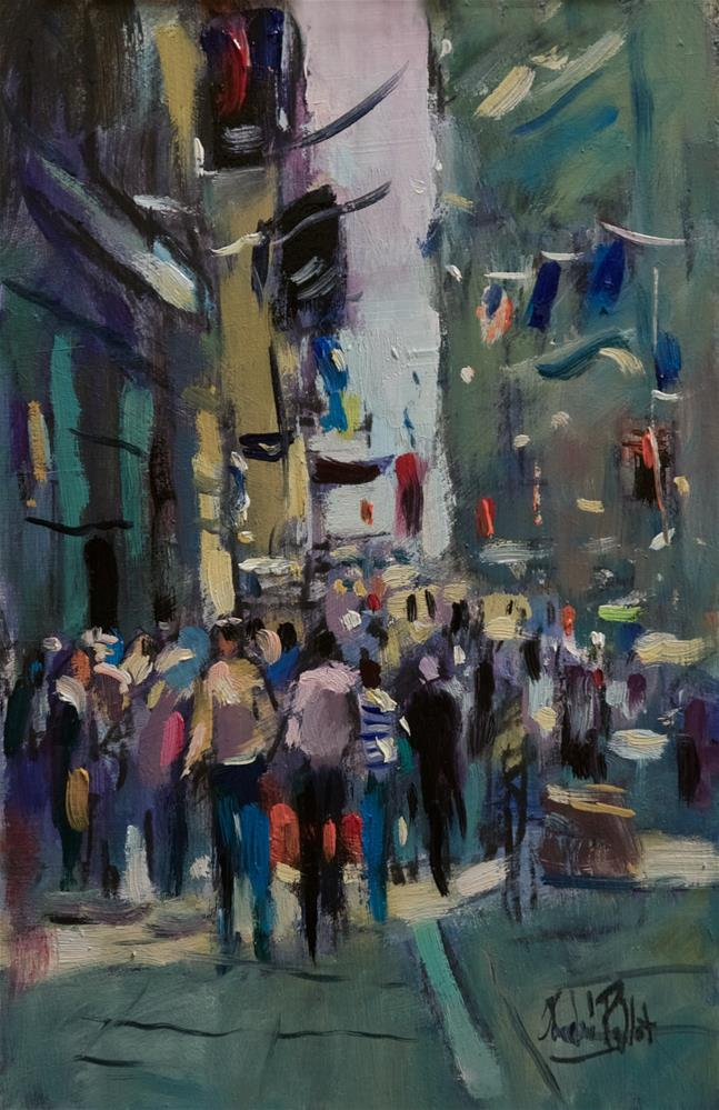 """Financial District New York"" original fine art by Andre Pallat"