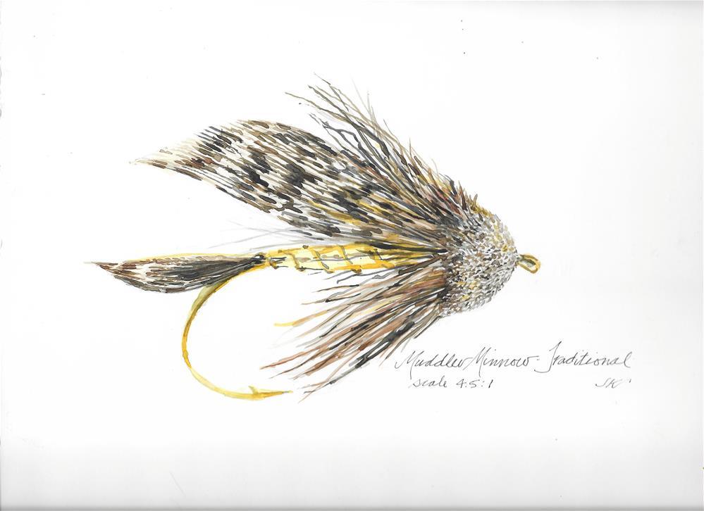 """Muddler Minnow Traditional"" original fine art by Jean Krueger"