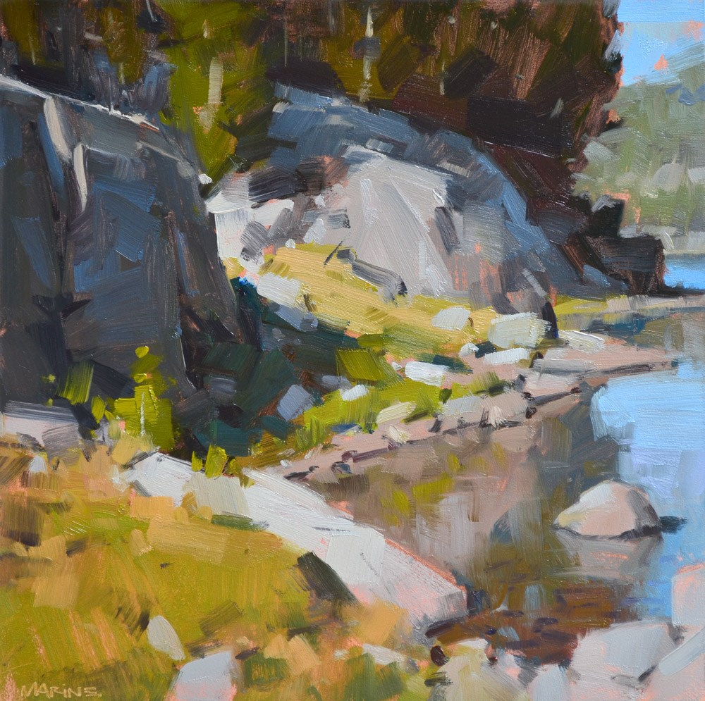 """Rocky Reflections"" original fine art by Carol Marine"