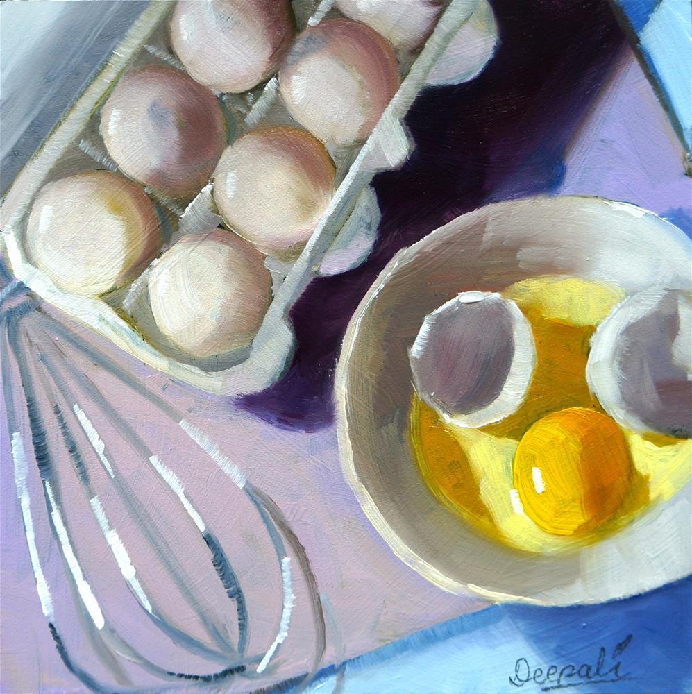 """Eggs"" original fine art by Dipali Rabadiya"