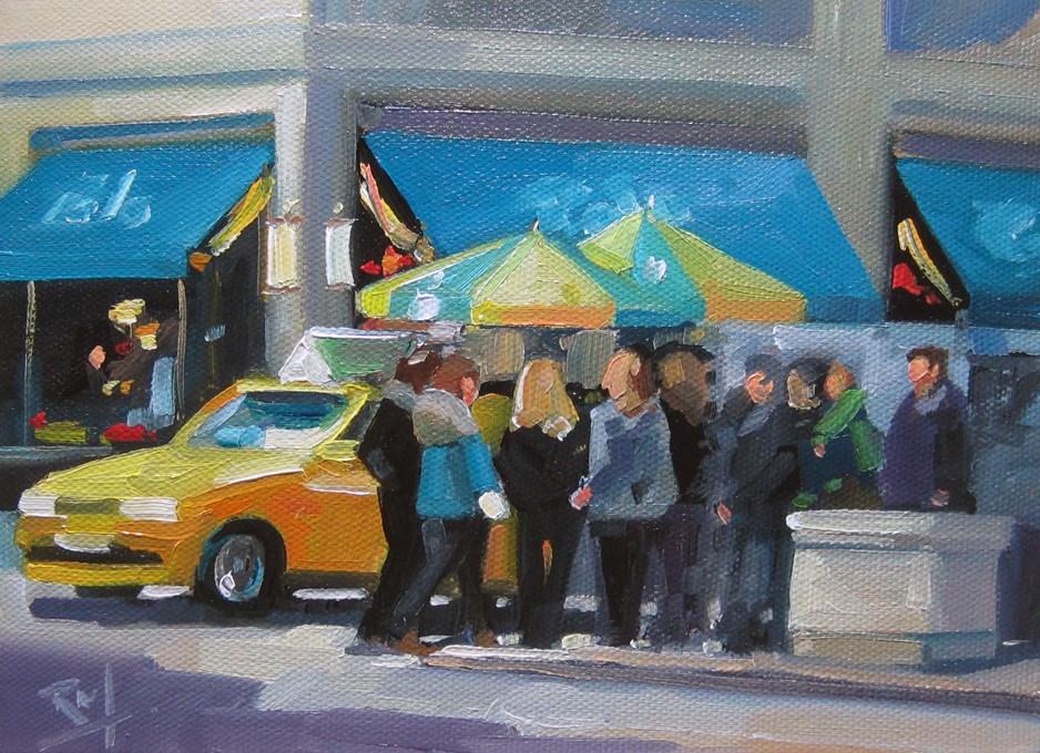 """No765_Polo5thAve"" original fine art by Robin J Mitchell"