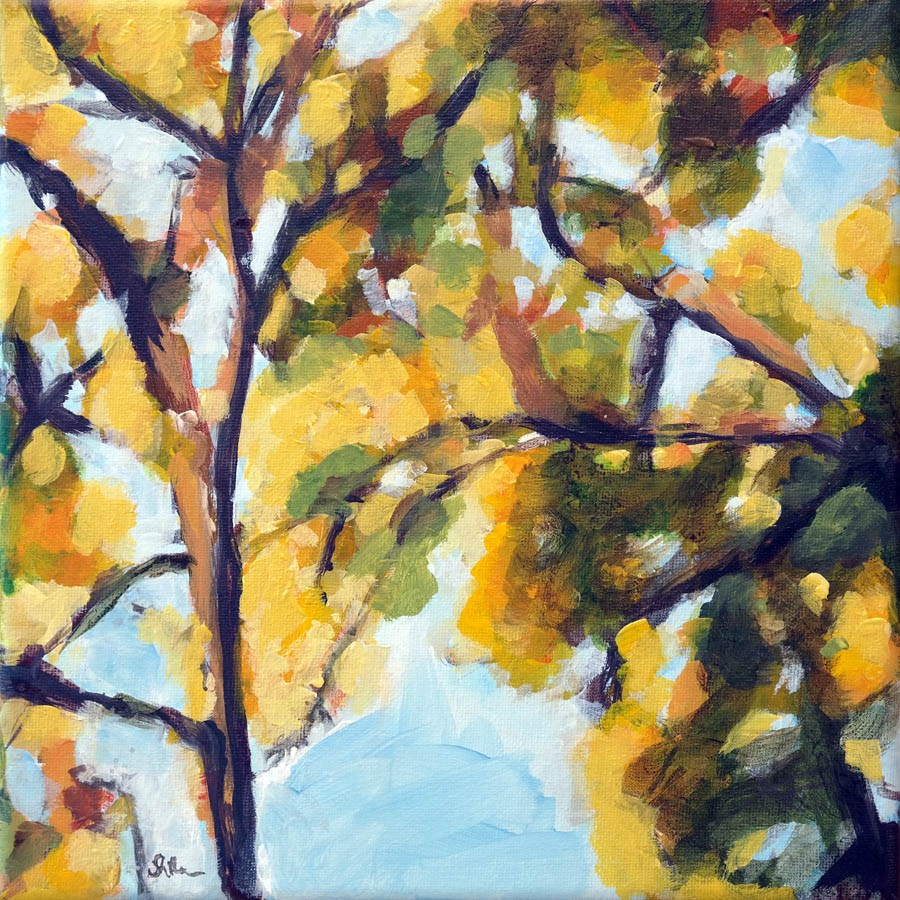 """1113 Look up in Fall"" original fine art by Dietmar Stiller"