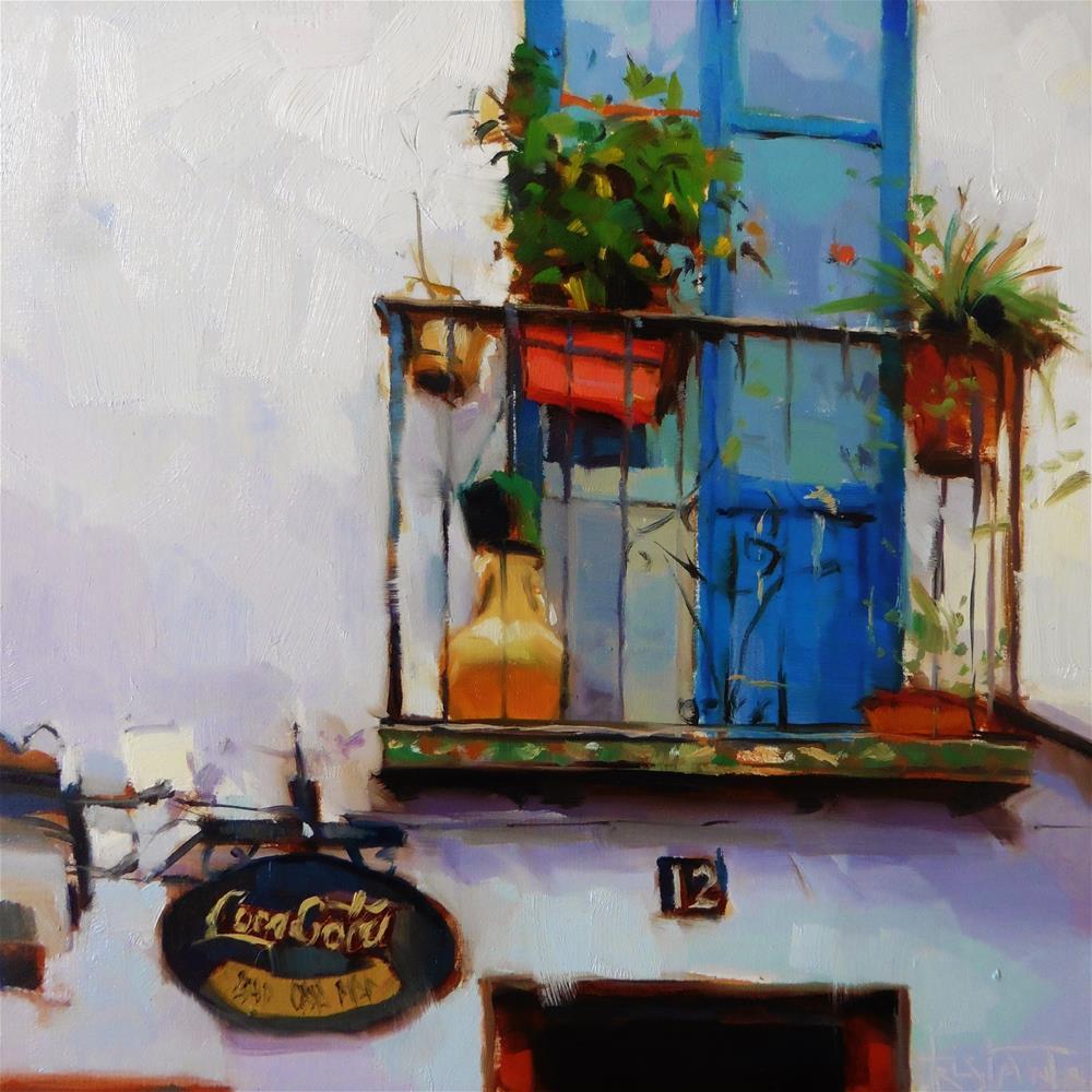 """Balcony of Granada"" original fine art by Víctor Tristante"