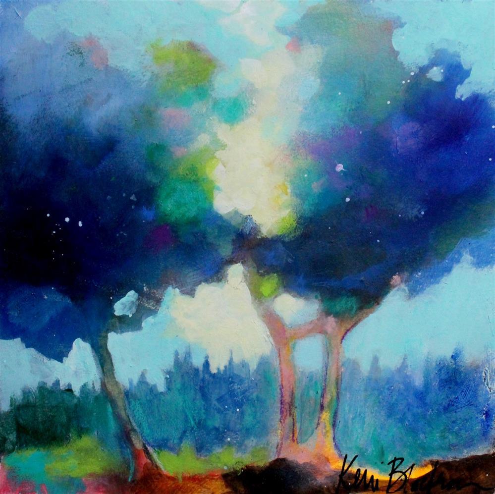 """Blue Trees "" original fine art by Kerri Blackman"
