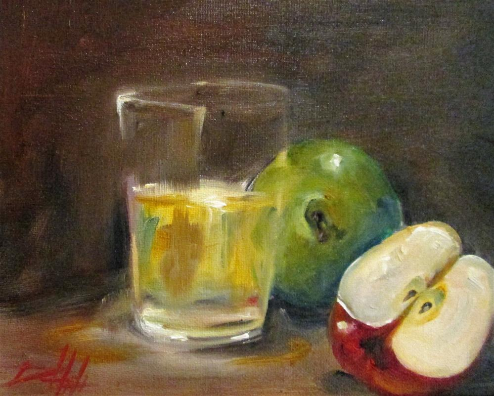 """""""Apples and Glass"""" original fine art by Delilah Smith"""