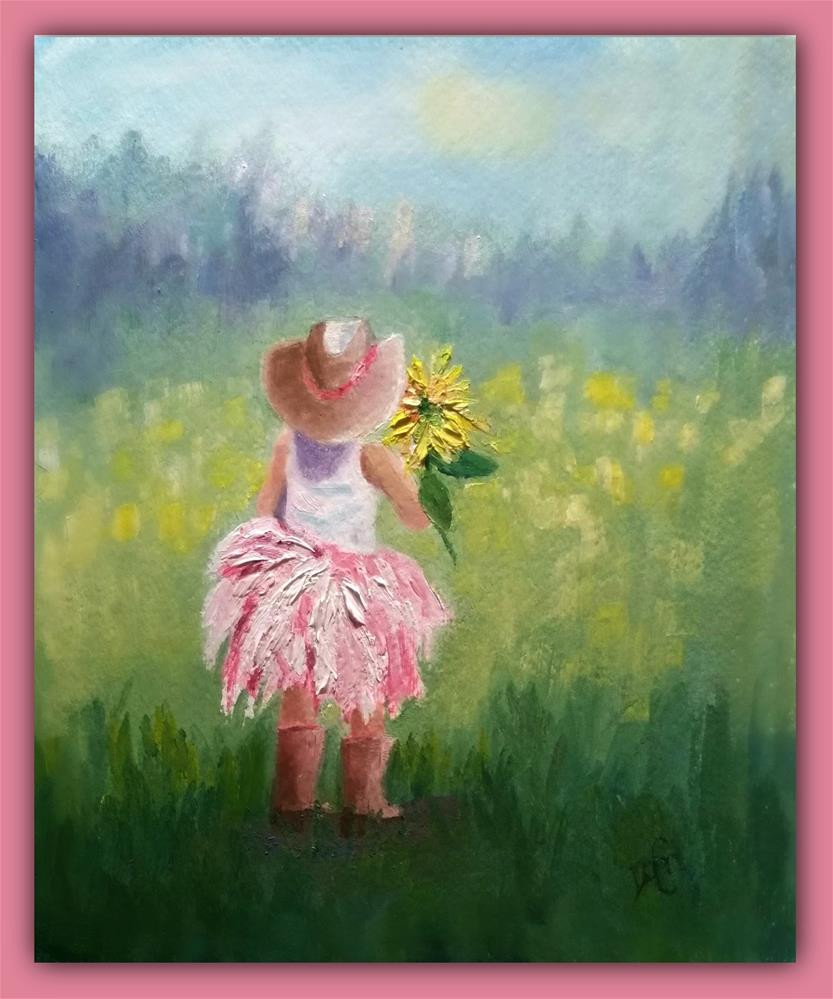 """Little Cowgirl"" original fine art by Dana C"