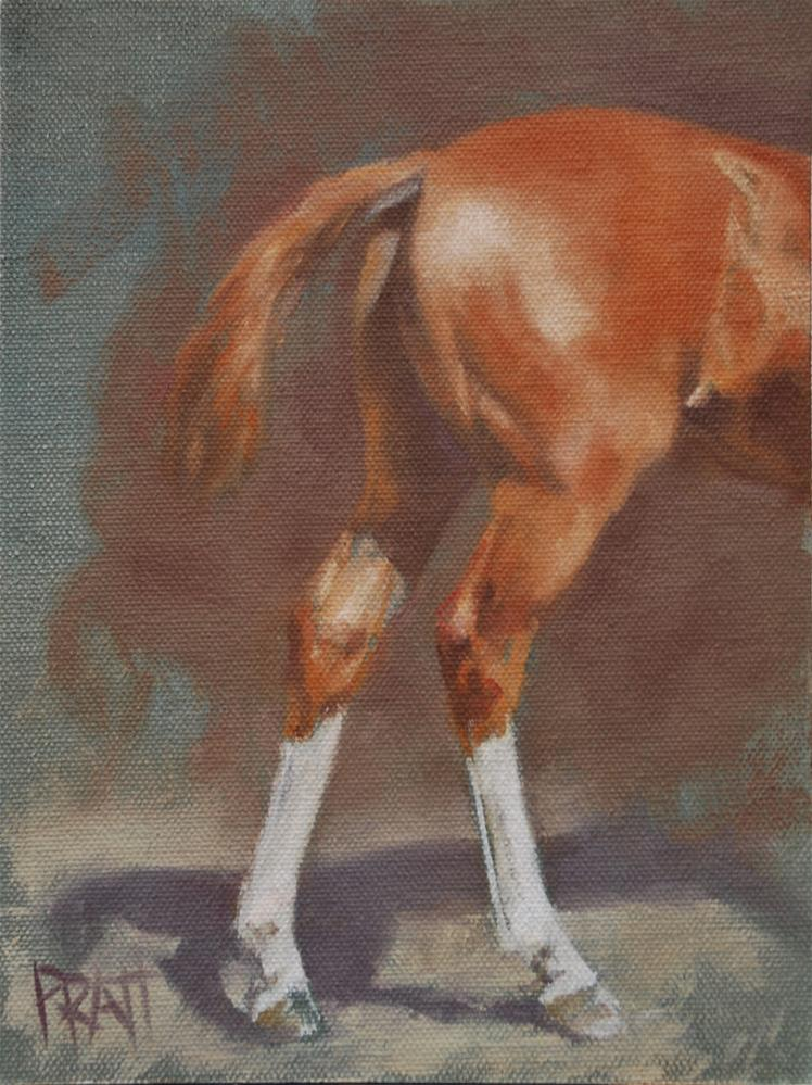 """Hindquarter Study"" original fine art by Jennifer Pratt"