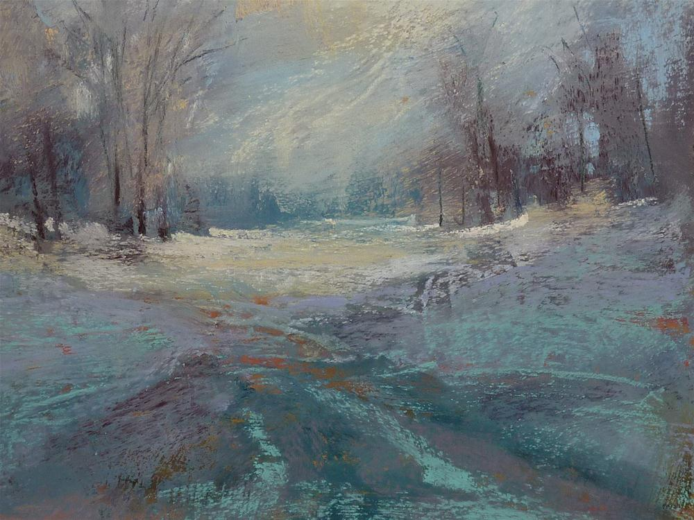 """""""3 Tips for Painting Winter Trees in Pastel"""" original fine art by Karen Margulis"""