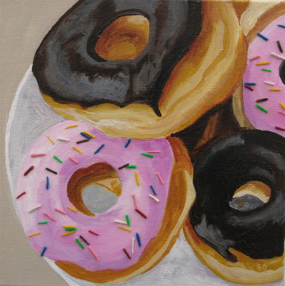 """Four To A Plate"" original fine art by Lisa Wiertel"