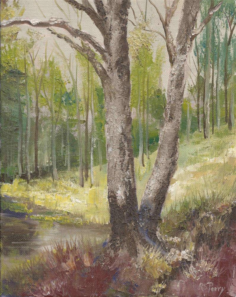 """""""Twin Trees"""" original fine art by R. S. Perry"""