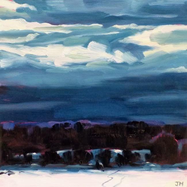 """Ski Trail"" original fine art by Jessica Miller"