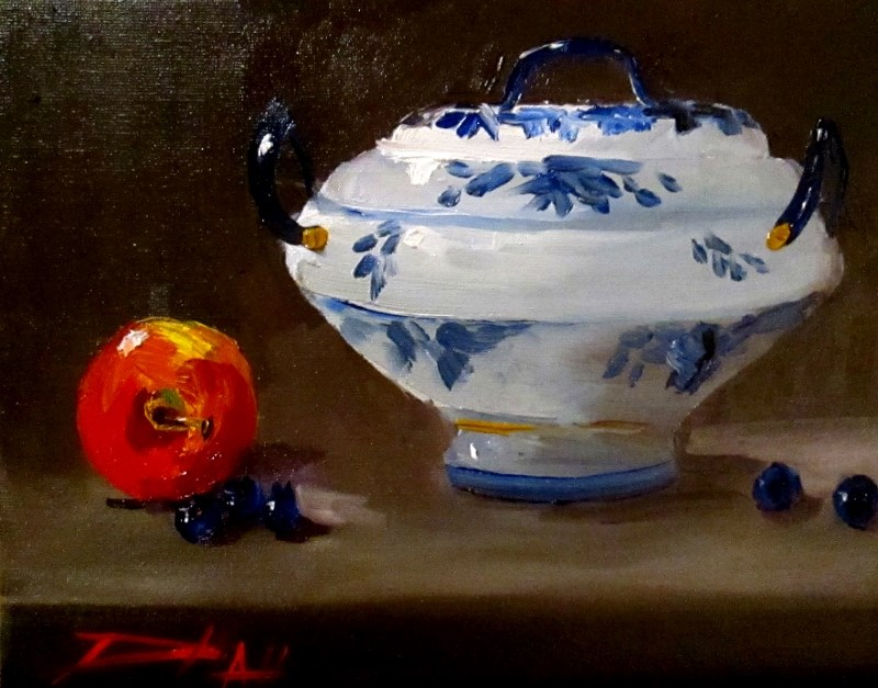 """Soup Turine"" original fine art by Delilah Smith"