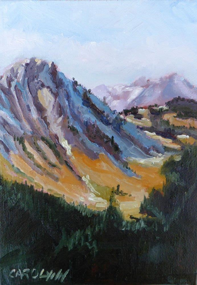 """""""Hiking the Skyline"""" original fine art by Carolynn Doan"""