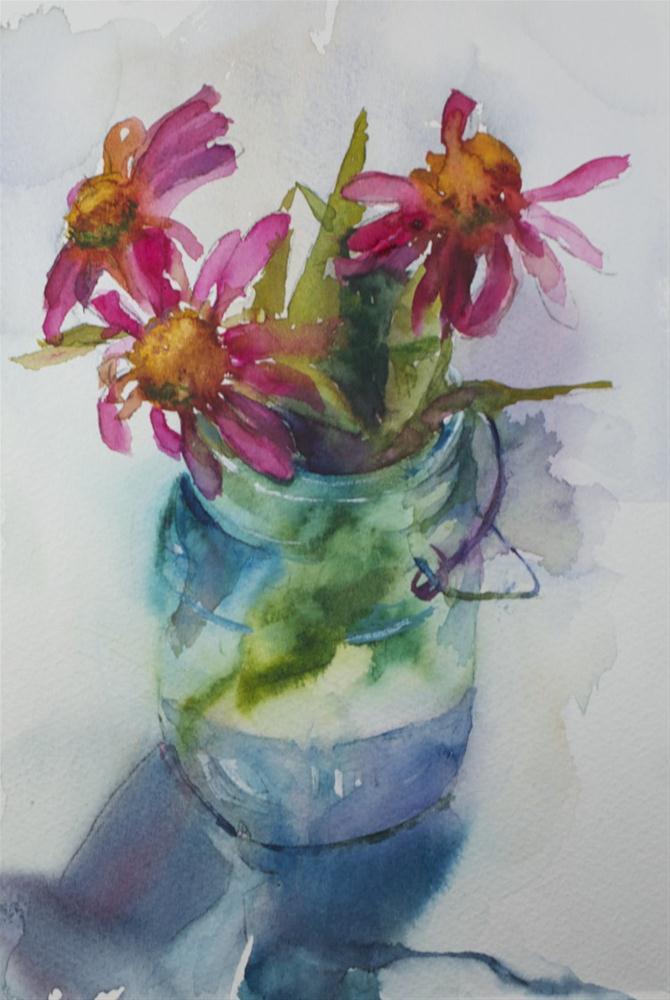 """Coneflower Study"" original fine art by Sue Churchgrant"