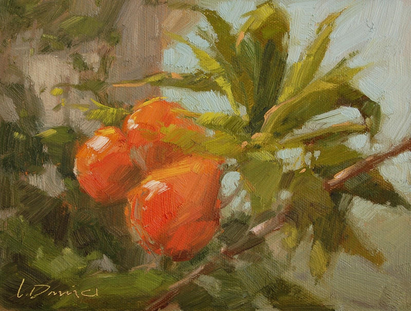 """Fruit Bearing Branches"" original fine art by Laurel Daniel"