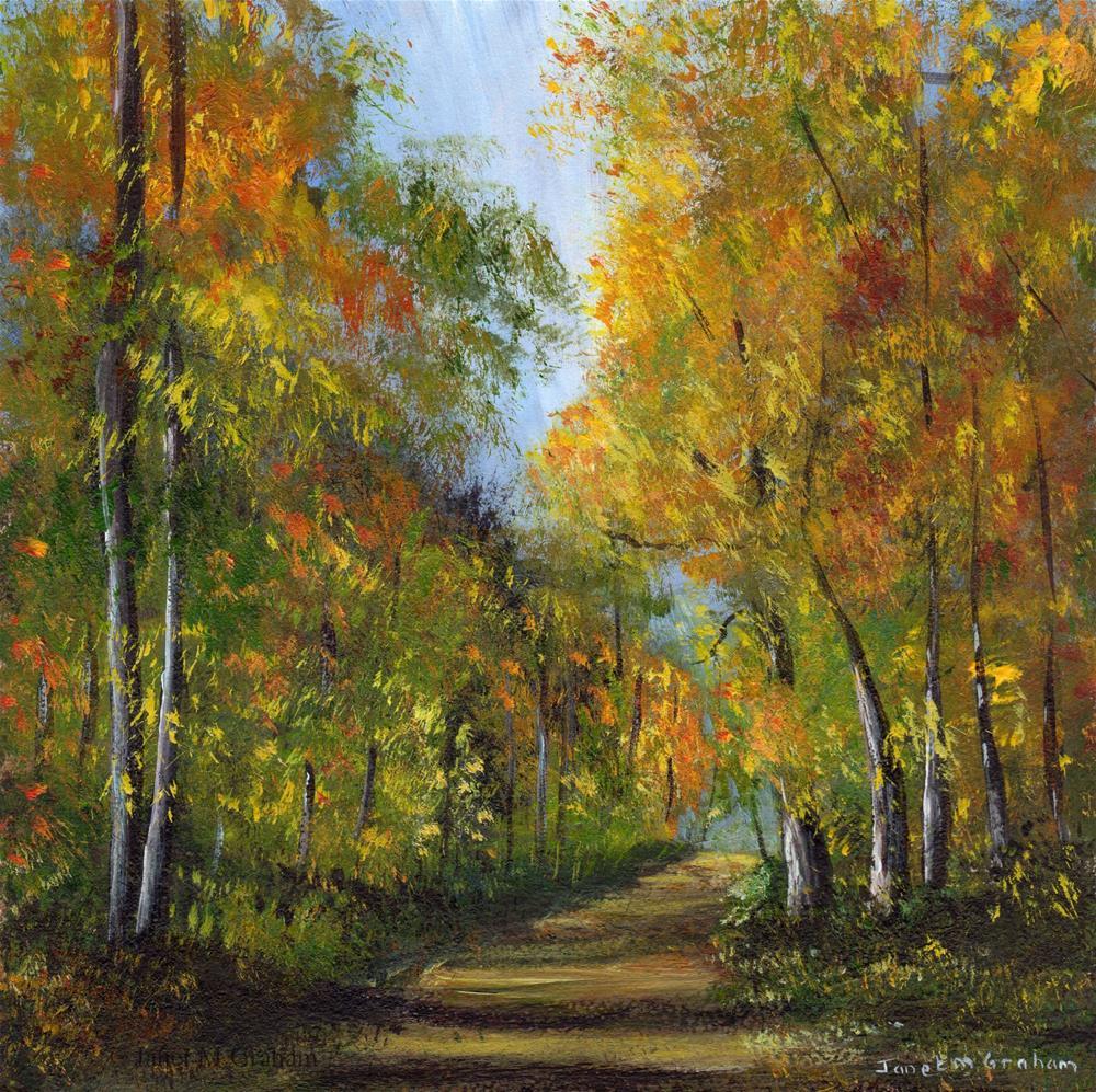 """""""Autumn Days"""" original fine art by Janet Graham"""