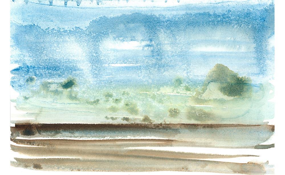 """Left Coast Impressions 6"" original fine art by Tonya Doughty"