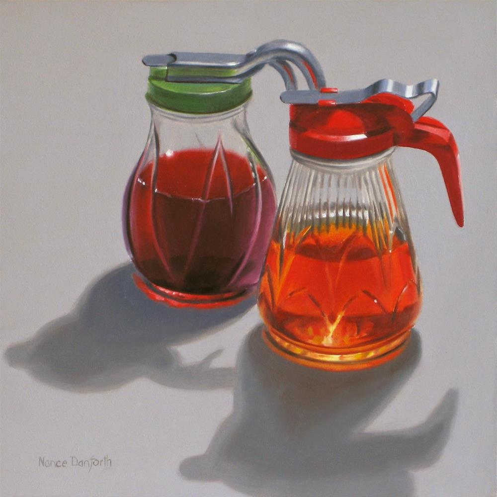 """Syrup Servers"" original fine art by Nance Danforth"