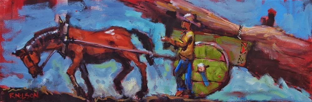 """Uphill"" original fine art by Rick Nilson"