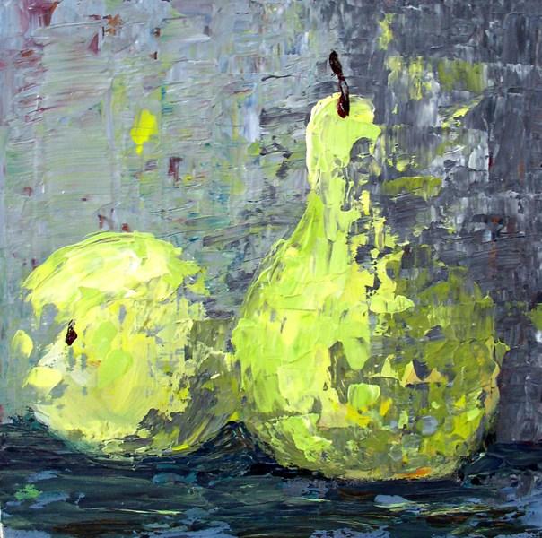 """""""Pear Pair"""" original fine art by Anna Vreman"""