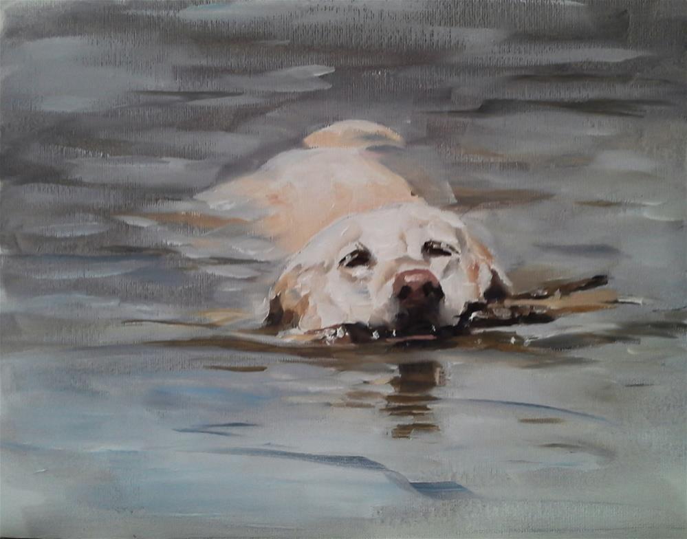 """Fetch"" original fine art by James Coates"