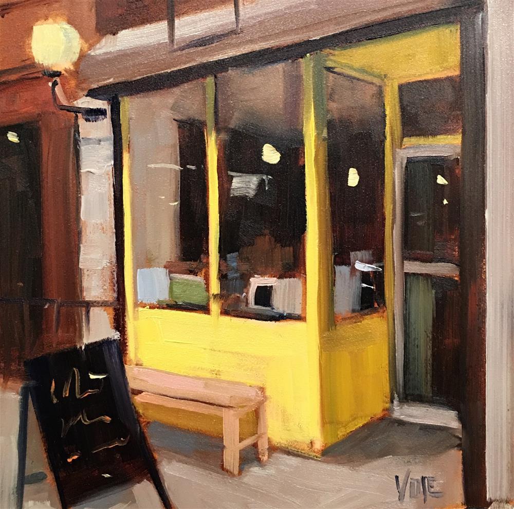 """#388 Shopping in Queens"" original fine art by Patty Voje"