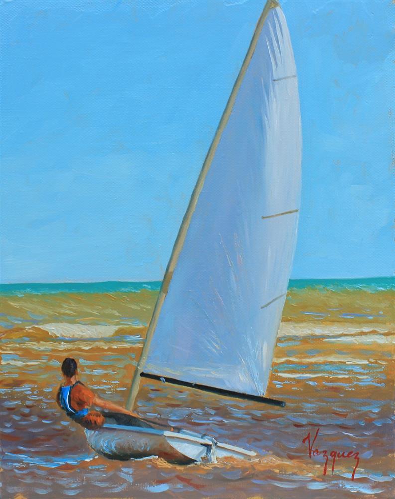 """Warm waters"" original fine art by Marco Vazquez"