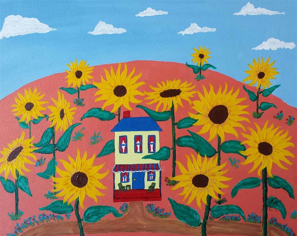 """Sunflower Forest"" original fine art by Karleen Kareem"