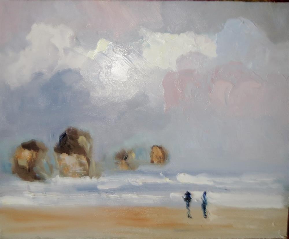 """Together at the coast"" original fine art by Astrid Buchhammer"