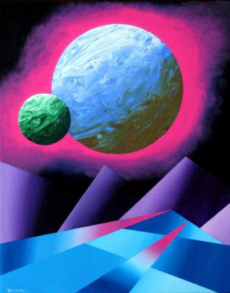 """Mark Adam Webster - Planet X Abstract Landscape Painting"" original fine art by Mark Webster"