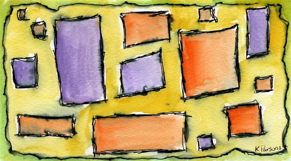"""""""Rectangles and Squares"""" original fine art by Kali Parsons"""