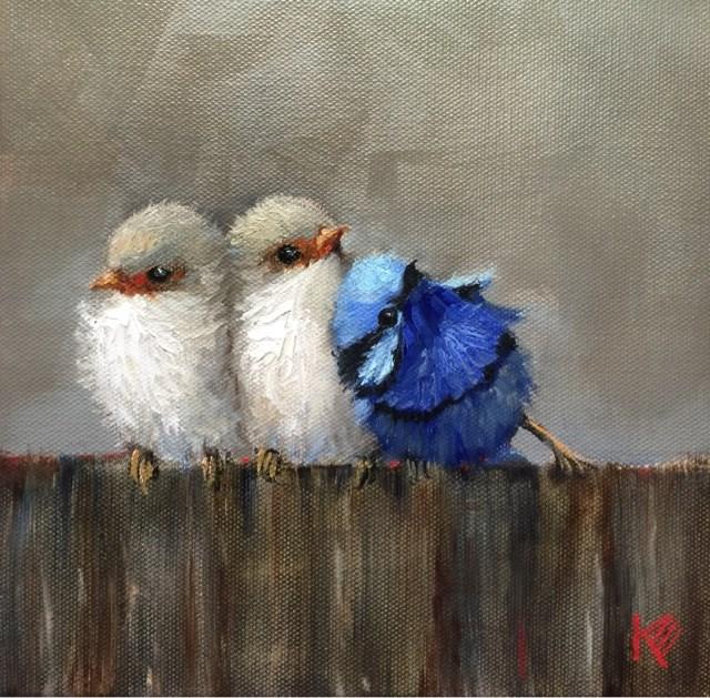 """Birds of a Feather"" original fine art by Krista Eaton"
