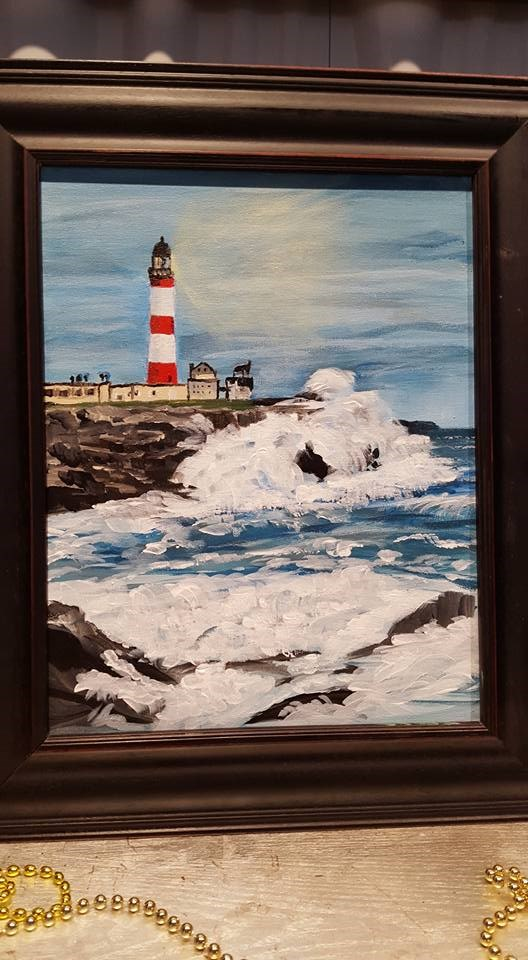 """Lighthouse1"" original fine art by Joan Anderson"