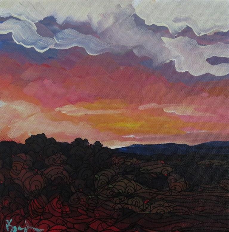 """SANDIA GLOW"" original fine art by Dee Sanchez"