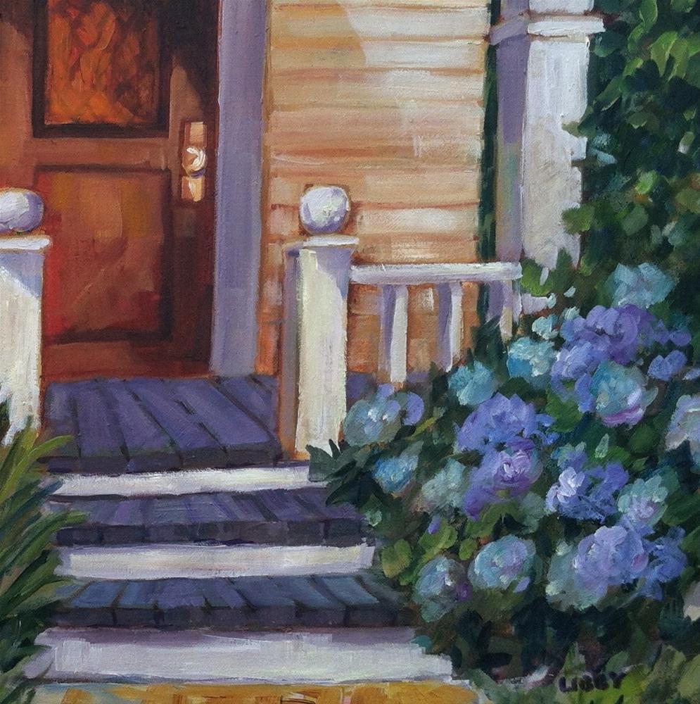 """Summer Porch"" original fine art by Libby Anderson"