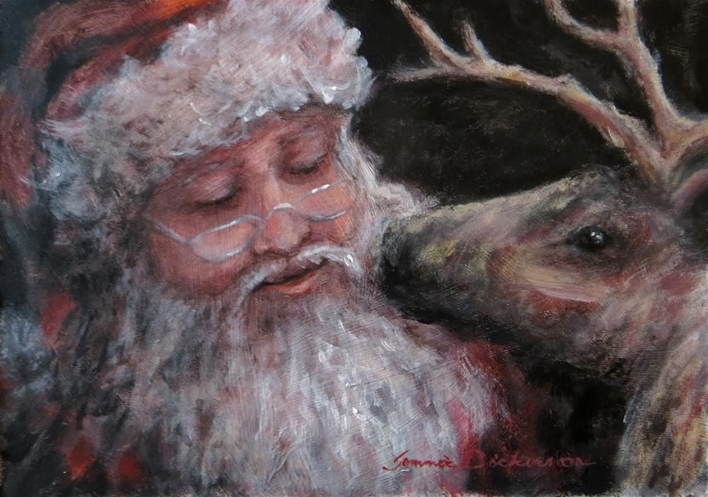 """Reindeer Kiss"" original fine art by Tammie Dickerson"