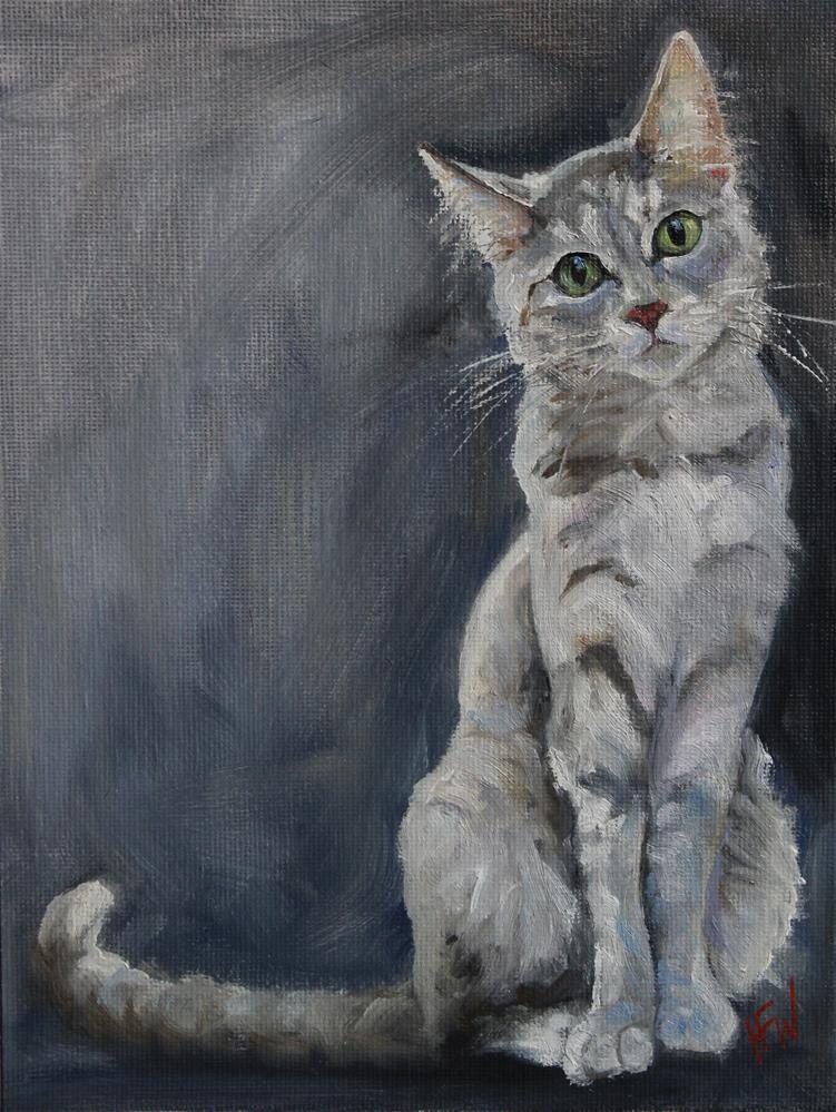 """""""The Stare"""" original fine art by H.F. Wallen"""